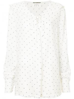 Рубашка в горох N Duo. Цвет: белый