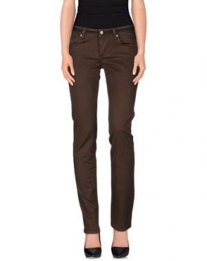 Повседневные брюки DUCK FARM. Цвет: какао