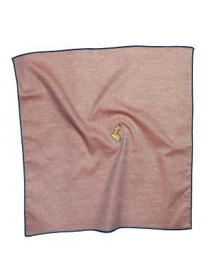 Платок 100% х/б 50*50 Passigatti. Цвет: темно-синий, коричневый