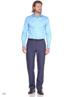 Рубашка мужская манжет под запонки WHITE CUFF. Цвет: бирюзовый
