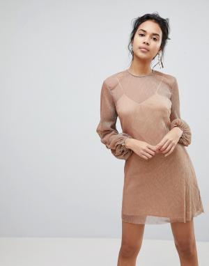 Keepsake Платье Step Down. Цвет: медный