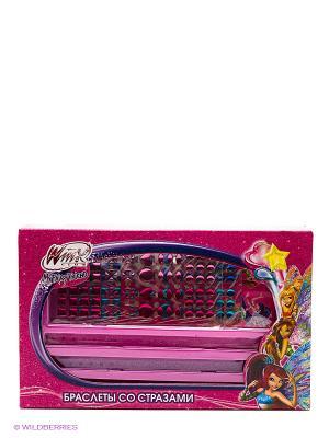 Набор для творчества  браслеты со стразами Winx, браслеты, 2 листа Multiart. Цвет: розовый