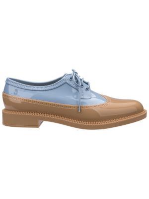 Туфли Melissa. Цвет: бежевый, синий