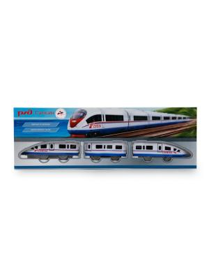 Железная дорога РЖД Играем Вместе Сапсан, длина 190 см.. Цвет: синий, красный, белый