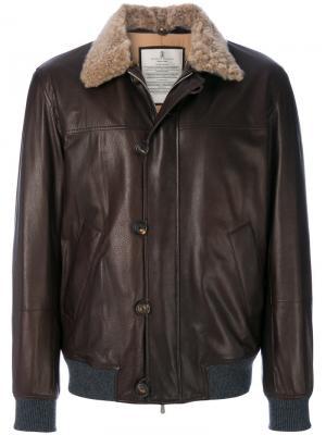 Куртка летчик Brunello Cucinelli. Цвет: коричневый