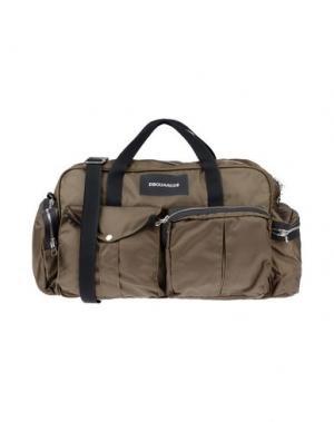 Дорожная сумка DSQUARED2. Цвет: зеленый-милитари