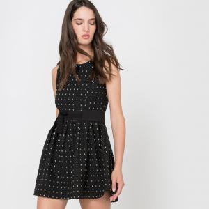 Платье расклешенное без рукавов MOLLY BRACKEN. Цвет: черный