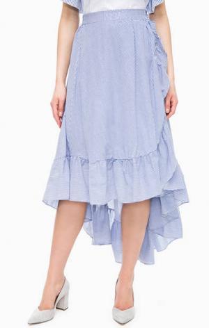Многослойная синяя юбка в полоску Kocca. Цвет: синий