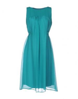 Платье до колена SILK AND SOIE. Цвет: зеленый