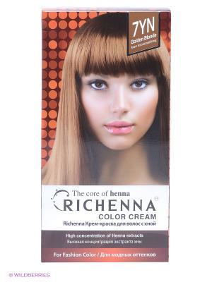 Крем-краска для волос с хной № 7YN (Golden Blonde) Richenna. Цвет: золотистый