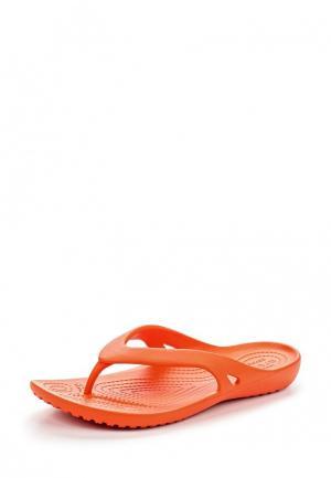 Сланцы Crocs. Цвет: оранжевый