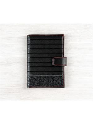 Бумажник водителя, с отделением для купюр, хлястиком, Амадей черный Domenico Morelli. Цвет: черный