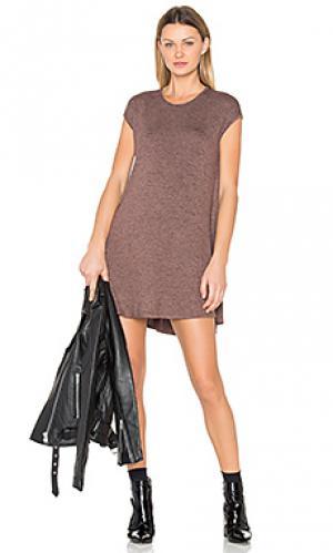 Мини платье polly Riller & Fount. Цвет: коричневый