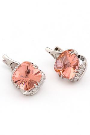Серьги RUSGEMS. Цвет: розовый