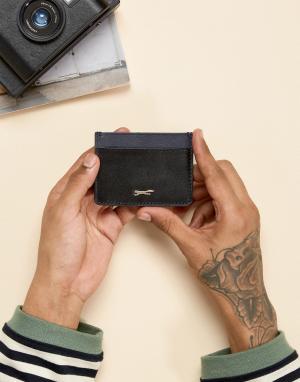 Paul Costelloe Кожаная визитница темно-синего и черного цветов. Цвет: черный