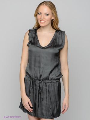 Платье Vila. Цвет: темно-серый