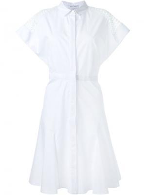 Платье-рубашка Prabal Gurung. Цвет: белый