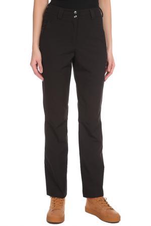 Прямые брюки с застежкой на поясе Stayer. Цвет: черный