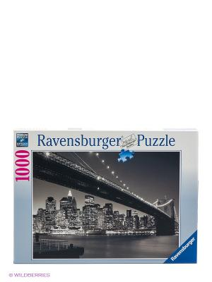 Пазл Бруклинский мост Ravensburger. Цвет: темно-серый