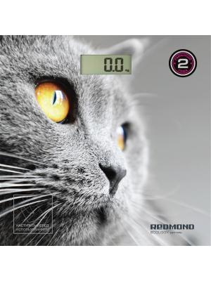 Весы напольные REDMOND RS-735 (Кошка). Цвет: серый, серебристый