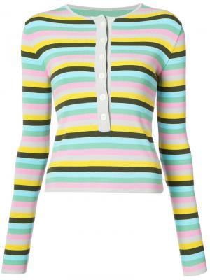 Полосатый свитер Natasha Zinko. Цвет: многоцветный