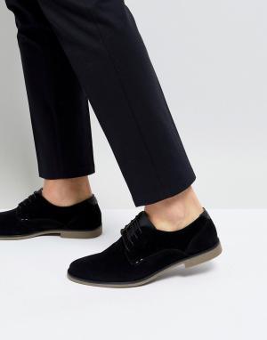 Burton Menswear Черные туфли дерби. Цвет: черный