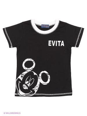 Футболка Evita Baby. Цвет: черный