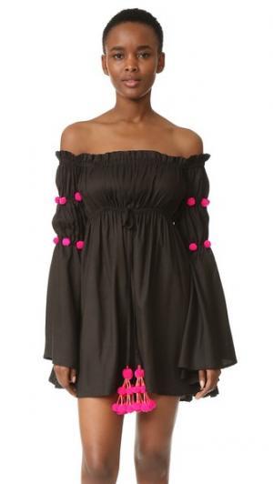 Платье Anita SUNDRESS. Цвет: черный/розовый