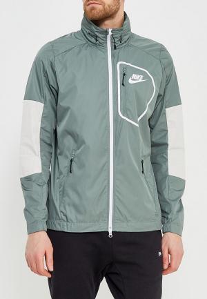 Ветровка Nike. Цвет: зеленый