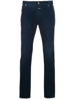Вельветовые брюки скинни Closed. Цвет: синий