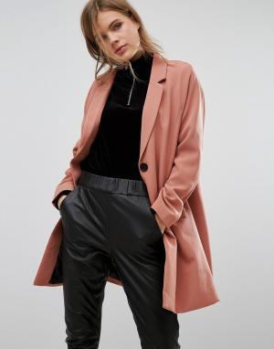 Vero Moda Oversize-блейзер. Цвет: коричневый