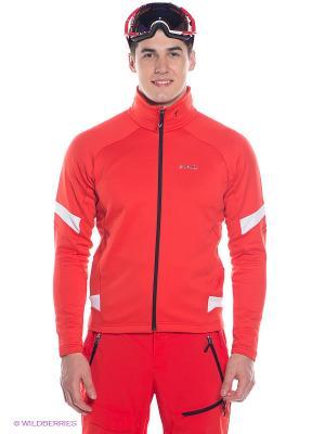 Кофта Lyse Middle Jacket Phenix. Цвет: красный