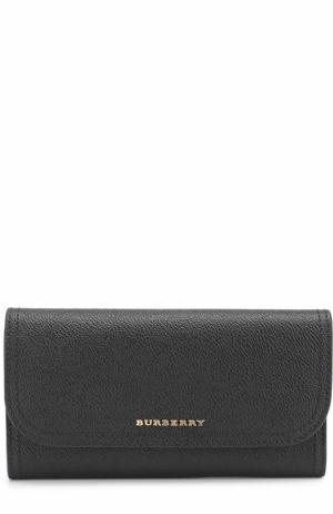 Кожаный бумажник Burberry. Цвет: черный