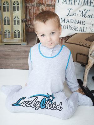 Ползунки Lucky Child. Цвет: серый