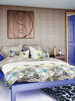 Комплект постельного белья Волшебная ночь Decor. Цвет: кремовый, желтый, серый