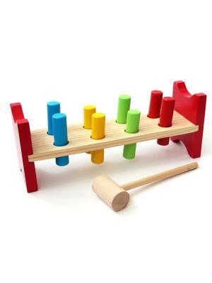 Игрушка Забивалка Винтик и Шпунтик. Цвет: красный,желтый,зеленый,голубой,бежевый
