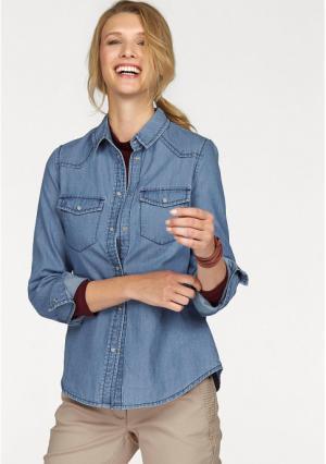 Джинсовая блузка CHEER. Цвет: синий