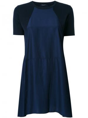 Платье А-образного кроя Roberto Collina. Цвет: синий