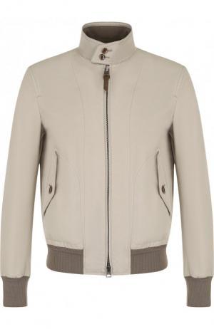 Куртка на молнии с воротником-стойкой Tom Ford. Цвет: светло-бежевый