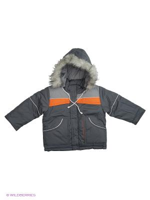 Куртка Babycollection. Цвет: серый, оранжевый