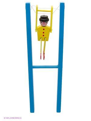 Деревянная игрушка Марионетка Фабрика Фантазий. Цвет: синий