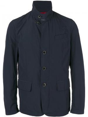 Легкая куртка с карманами клапанами Fay. Цвет: синий