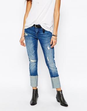 BLANK NYC Рваные джинсы бойфренда с большими отворотами