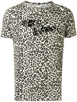 Футболка с леопардовым принтом Marc Jacobs. Цвет: телесный