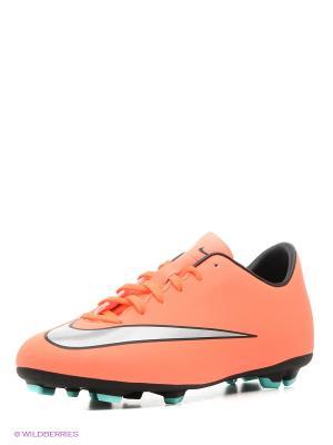 Бутсы JR MERCURIAL VICTORY V FG Nike. Цвет: оранжевый