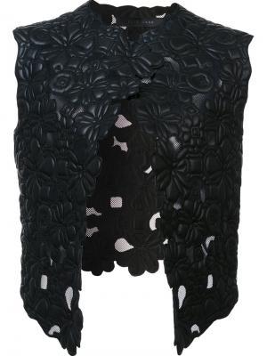 Жилет с цветочным мотивом Elie Saab. Цвет: чёрный