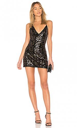 Платье-комбинация sloan NBD. Цвет: черный