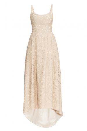 Платье из хлопка с шелком 162635 Izeta. Цвет: бежевый
