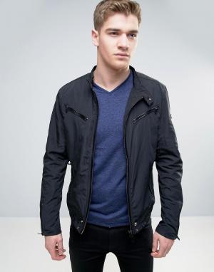 Born Rich Байкерская куртка с несколькими молниями. Цвет: черный