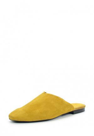 Сабо Mango. Цвет: желтый
